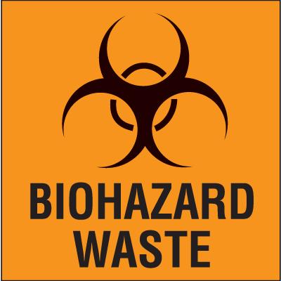 Biohazard Waste - Drum Identification Labels