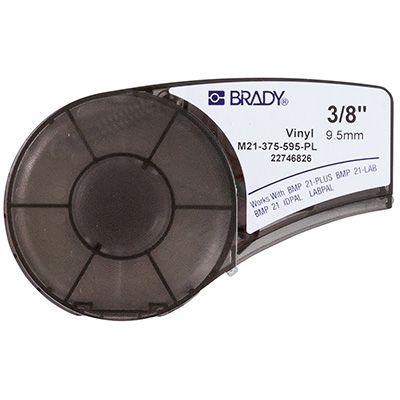 Brady BMP21 Plus M21-375-595-PL Label Cartridge - White on Purple