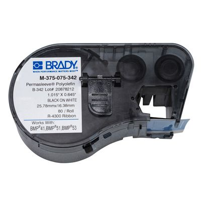 Brady BMP51/53 M-375-075-342 Label Cartridge - Black on White