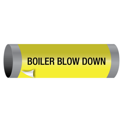 Boiler Blow Down - Ultra-Mark® Self-Adhesive High Performance Pipe Markers