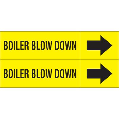 Boiler Blow Down - Weather-Code™ Self-Adhesive Outdoor Pipe Markers