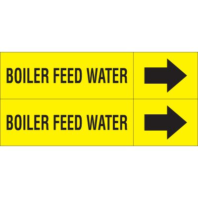 Boiler Feed - Weather-Code™ Self-Adhesive Outdoor Pipe Markers
