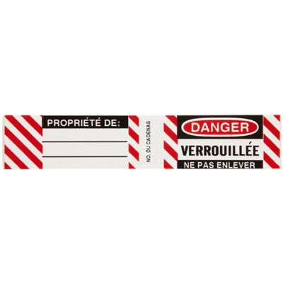 Brady 50283 Steel Padlock Label - Danger Verrouillee Ne Pas Enlever - Pack of 6