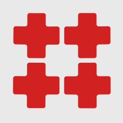 Toughstripe™ Die Cut Shapes - Cross Markers