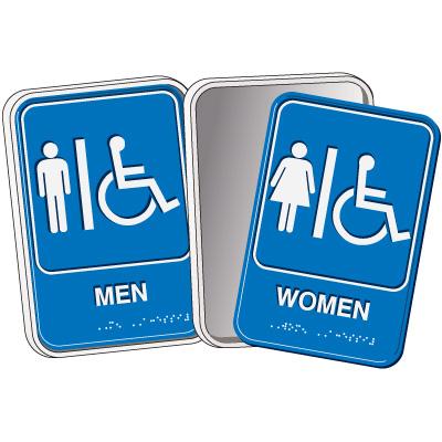 Braille ADA Restroom Sign Kit