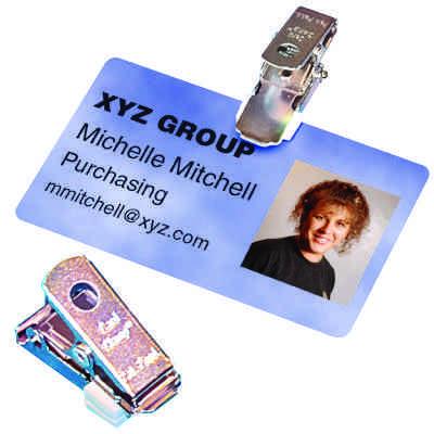 Card Clamp Badge Holder