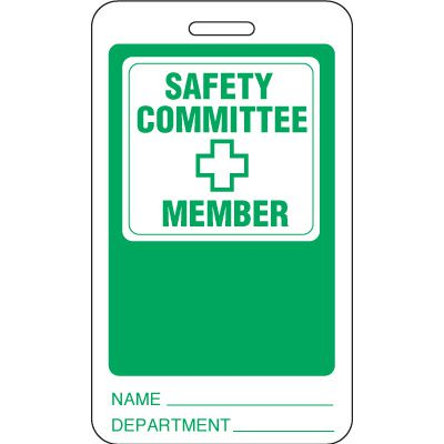 Safety Committee Member ID Tag