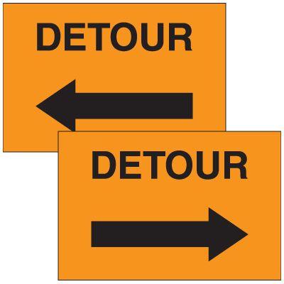 Detour Emergency Response Sign