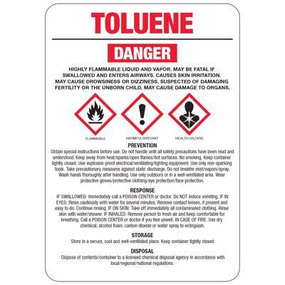 Chemical GHS Signs - Toluene