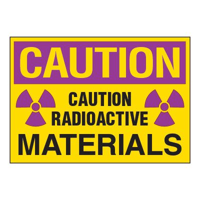 Chemical Radiation Labels - Radioactive Materials