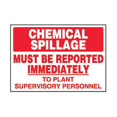 Chemical Safety Labels - Chemical Spillage