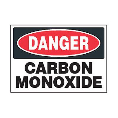 Chemical Safety Labels - Danger Carbon Monoxide