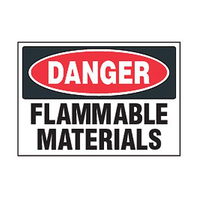Chemical Safety Labels - Danger Flammable Materials