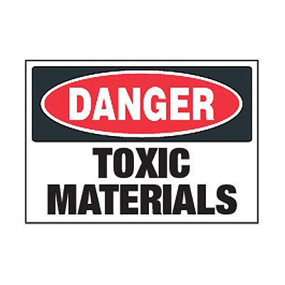 Chemical Safety Labels - Danger Toxic Materials