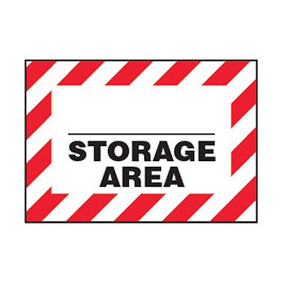Chemical Safety Labels - Storage Area