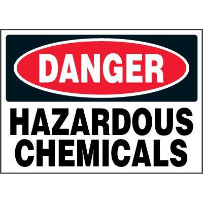 Chemical Labels - Danger Hazardous Chemicals