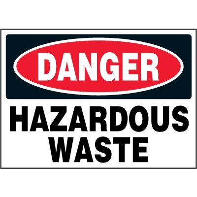 Chemical Labels - Danger Hazardous Waste