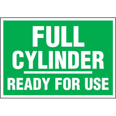 Chemical Labels - Full Cylinder Ready For Use