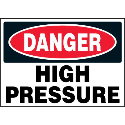 Chemical Labels - Danger High Pressure