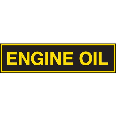Chemical Labels - Engine Oil