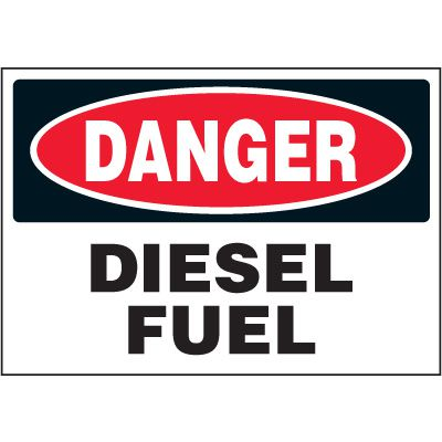 Chemical Labels - Danger Diesel Fuel