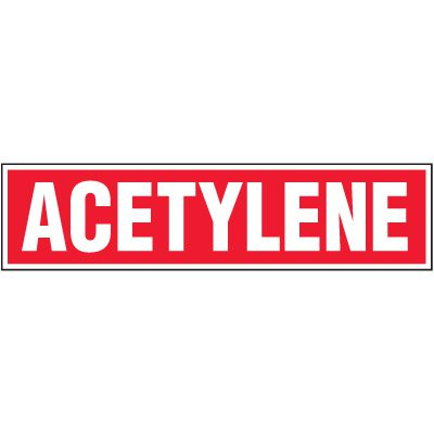 Chemical Labels - Acetylene