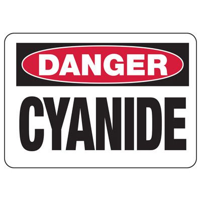 Chemical Warning Signs - Danger Cyanide