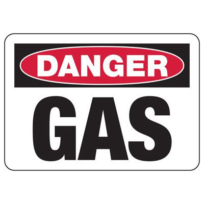 Chemical Warning Signs - Danger Gas
