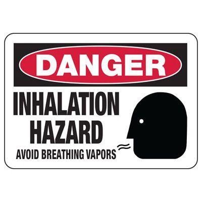 Chemical Warning Signs - Danger Inhalation Hazard
