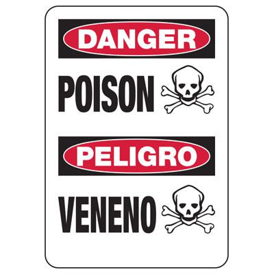 Chemical Warning Signs - Danger Poison Peligro Veneno