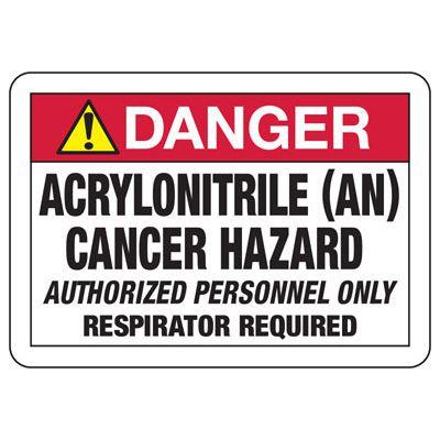 Danger Acrylonitrile Cancer Hazard