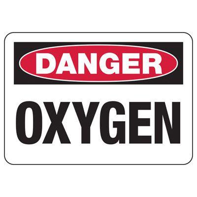 Danger Oxygen Safety Sign