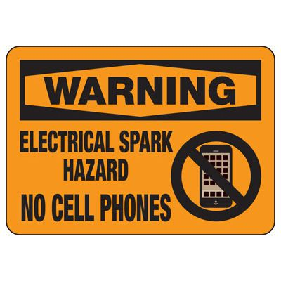 Chemical Warning Signs - Warning Electrical Spark Hazard