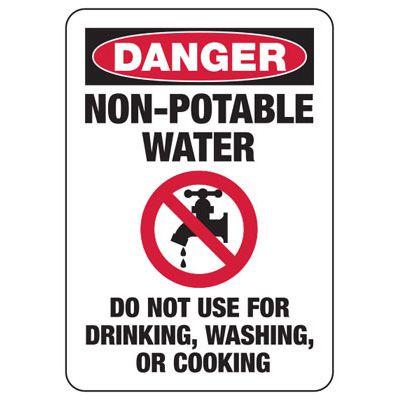 Danger Non-Potable Water Sign