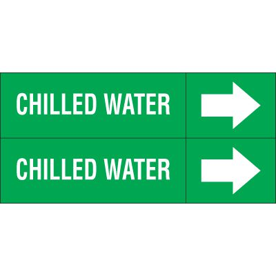 Chilled Water - Weather-Code™ Self-Adhesive Outdoor Pipe Markers