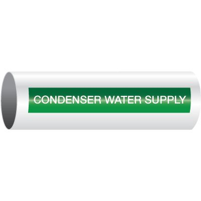 Condenser Water Supply - Opti-Code™ Self-Adhesive Pipe Markers