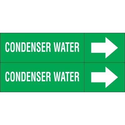Condenser Water - Weather-Code™ Self-Adhesive Outdoor Pipe Markers