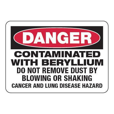 Contaminated With Beryllium - Chemical Warning Signs