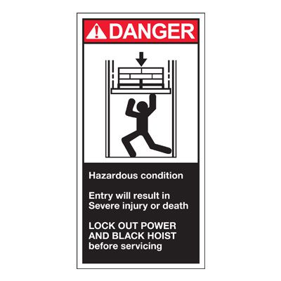 Conveyor Safety Labels - Danger Hazardous Condition