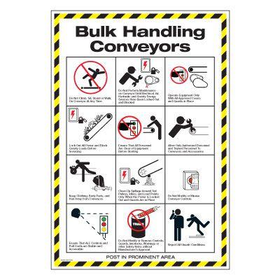 Conveyor Safety Poster - Bulk Handling Conveyors