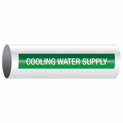 Cooling Water Supply - Opti-Code™ Self-Adhesive Pipe Markers