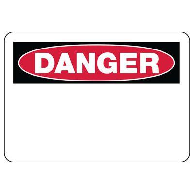 Write-On Blank Danger Sign