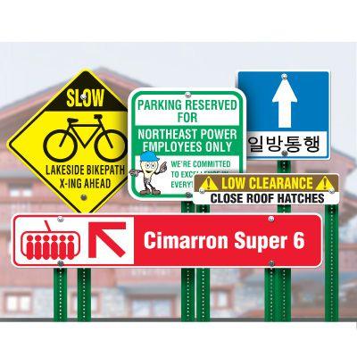 Custom Size Traffic Signs