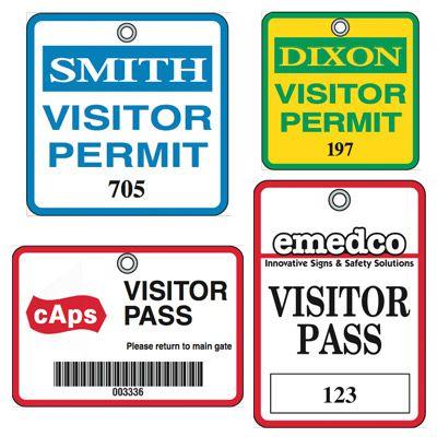 Custom Worded Visitor Badges