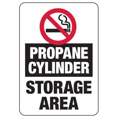 No Smoking Propane Cylinders Sign