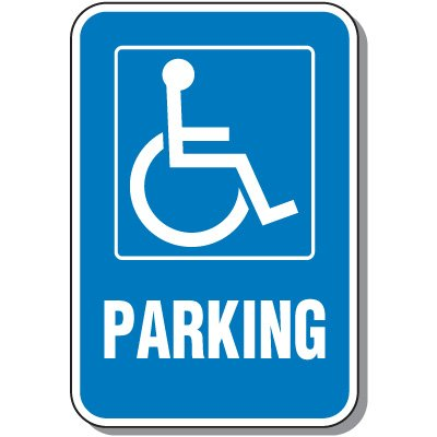 Handicapped Signs - Parking Handicapped Symbol