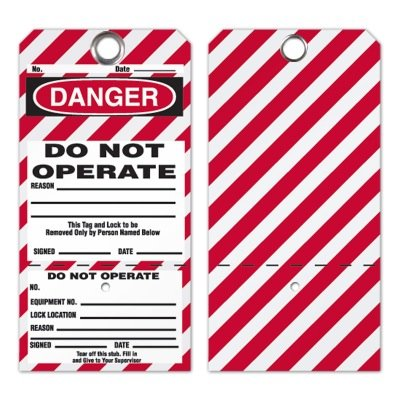 2-Part Lockout Tags- Do Not Operate