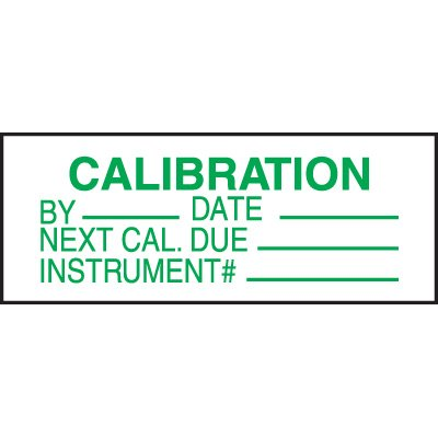 Calibration Write-On-Labels