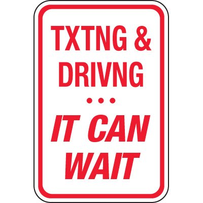Texting & Driving... It Can Wait