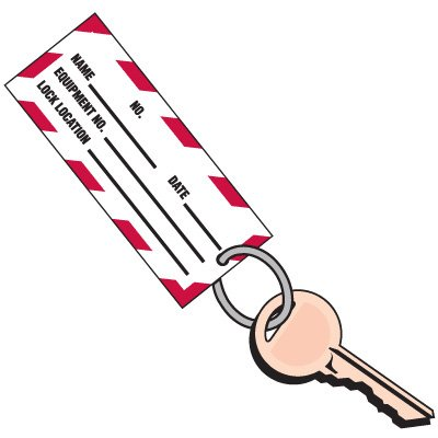 """3/4"""" Metal Key Ring for 2-Part Lockout Key Tags"""